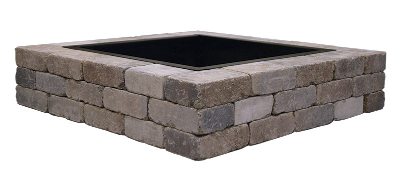 Square Firepit with ring insert and cooking grate. Approx Weight - Sunset Fire Pits – Wilson Nurseries