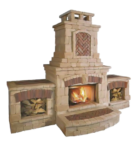 Unilock tuscany collection wilson nurseries for Firerock fireplace prices