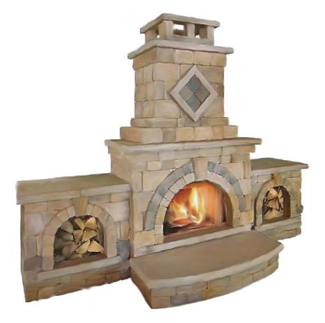 Unilock barcelona collection wilson nurseries for Firerock fireplace prices