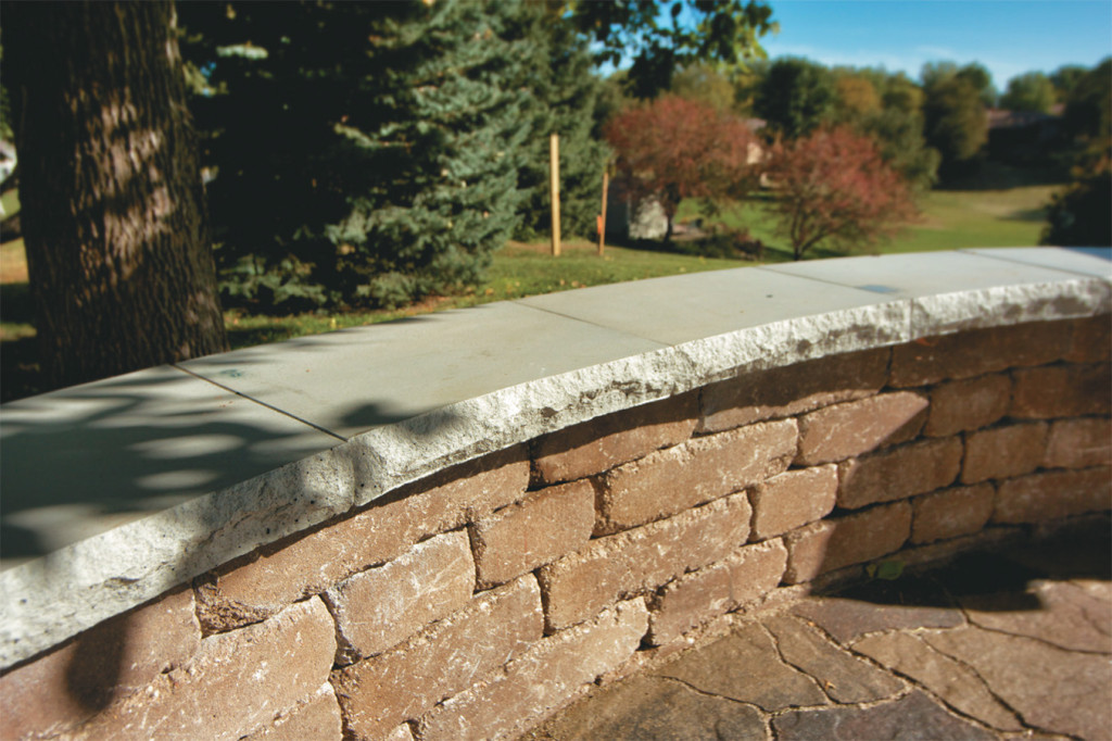 Natural Stone Wall Caps : Chiseled seat wall caps wilson nurseries