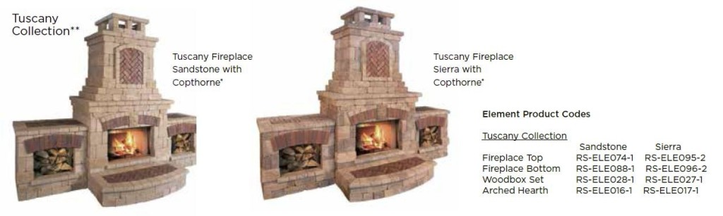 Unilock elements tuscany collection wilson nurseries for Firerock fireplace prices